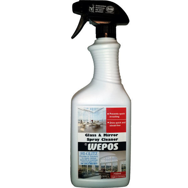 Hi-Glitz Quality Cleaning Products in Singapore - Glass and Mirror Spray Cleaner