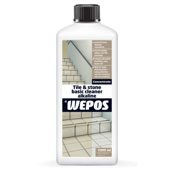 Non_acidic tile and stone cleaner for marble and granite, cotto, clinker, clay and terracotta tiles.
