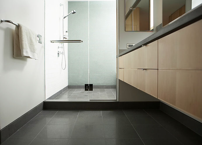 clean shower area